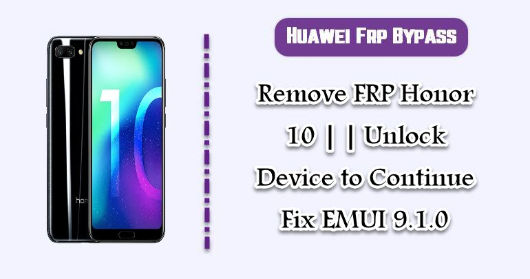 Remove FRP Honor 10
