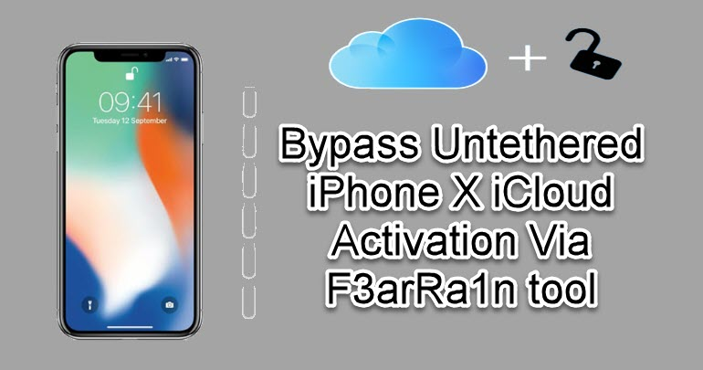 Bypass Untethered iPhone X iCloud